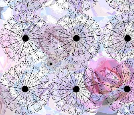 Rose Garden with gazebo fabric by jktphotofab on Spoonflower - custom fabric