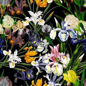 "18"" Iris Moody Florals by UtART - Mystic Night 32"