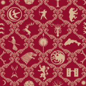 GOT Damask Red Background