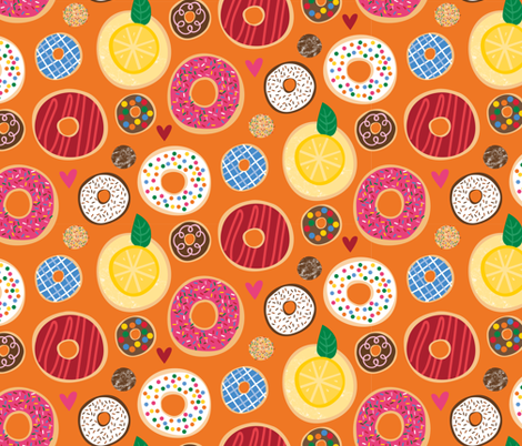 Fresh Donuts fabric by lisa_kubenez on Spoonflower - custom fabric