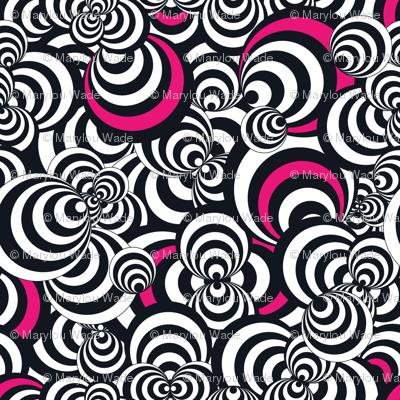 Circled Pink in Black