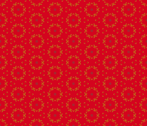 Hot Summer Moment - red fabric by susanmariewilliams on Spoonflower - custom fabric