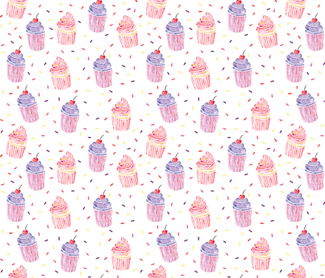 Cupcakes and Sprinkles fabric by arthousewife on Spoonflower - custom fabric