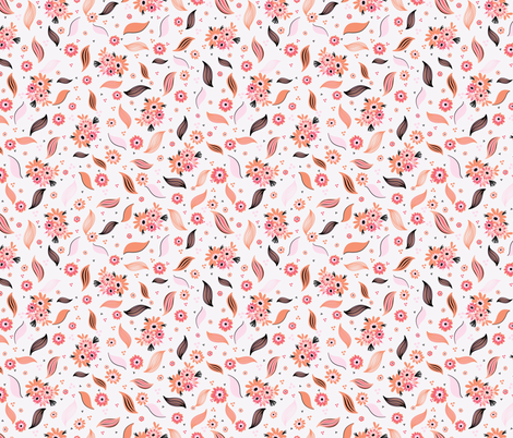 Ditsy Daisies Bouquet fabric by limolida on Spoonflower - custom fabric