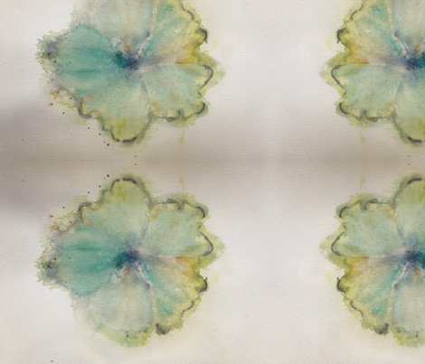 faded flower fabric by peggy's_two_cents on Spoonflower - custom fabric