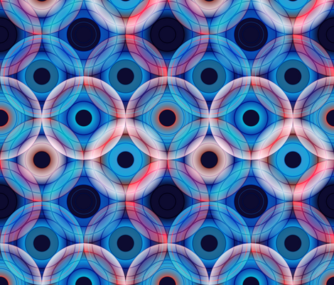 Circles | Blue and soft pink  fabric by camcreative on Spoonflower - custom fabric