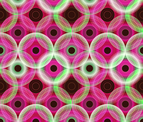 Circles | pink and green fabric by camcreative on Spoonflower - custom fabric