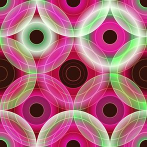 Circles | pink and green