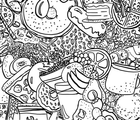 Breakfast fabric by tracydb70 on Spoonflower - custom fabric