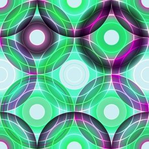 Circles | green and purple