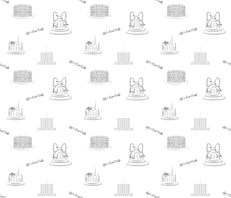Let's Eat Cake - Birthday fabric by sherry-savannah on Spoonflower - custom fabric