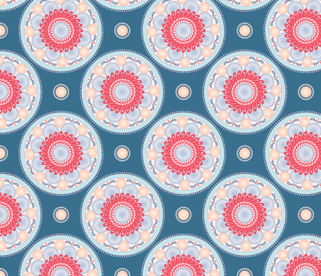 Circles and sun fabric by dina's_natural_avenue on Spoonflower - custom fabric