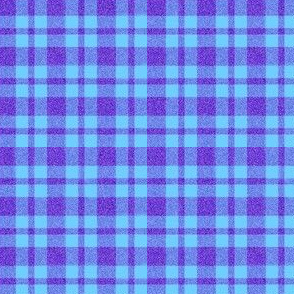 CD3 Purple Sparkles and Pastel Blue Plaid