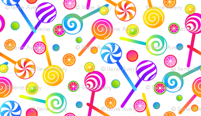 Lollipops and Fruit Candies