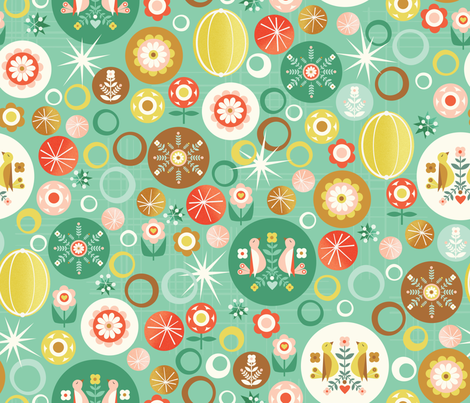 Round and Round fabric by oliveandruby on Spoonflower - custom fabric