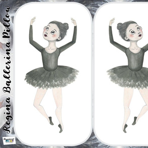 Regina Ballerina Pillow Fat Quarter Easy Cut n' Sew