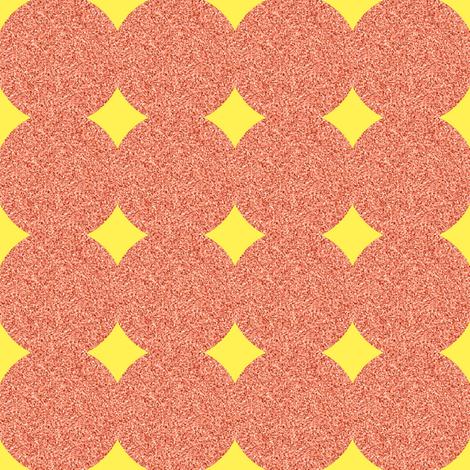 CD5 - Polkadot Solidarity - Diamond Peekaboo - Yellow - Peach - Pastel Orange fabric by maryyx on Spoonflower - custom fabric