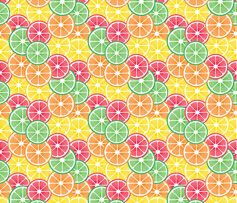 Summercitrus fabric by uniqueheartboutique on Spoonflower - custom fabric