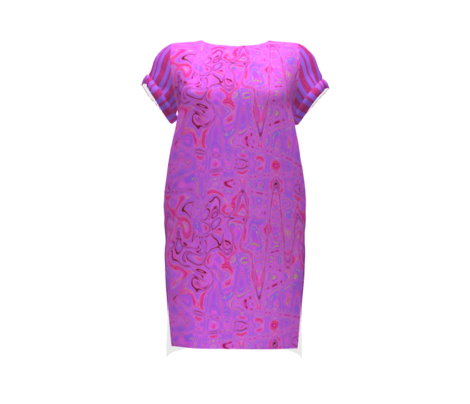 CD6  - Speckled Fuchsia and Violet Stripes