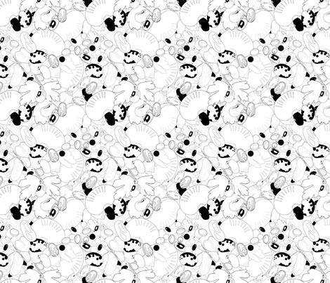 15 Bean Soup fabric by milom on Spoonflower - custom fabric