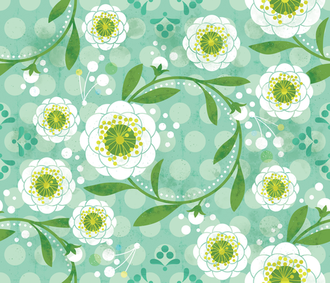 Ring around the Posies fabric by cynthiafrenette on Spoonflower - custom fabric