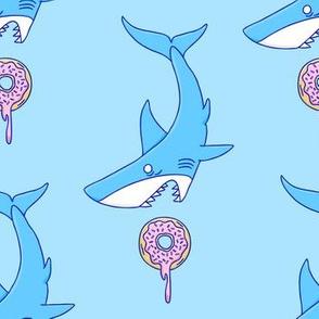 Shark vs Donut Blue