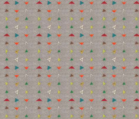 atomic triangle burst fabric by ibislily on Spoonflower - custom fabric