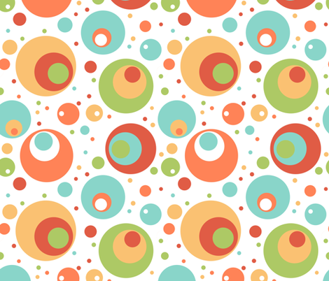 silly circles fabric by crookedlittlestudio on Spoonflower - custom fabric