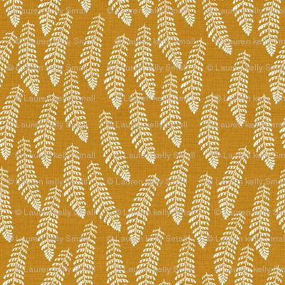 Feathery Fern Golden Linen