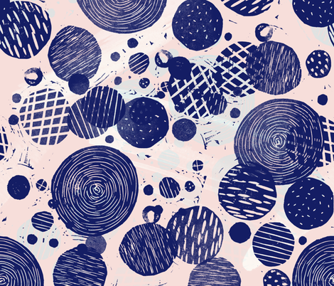 block print circles fabric by ghouk on Spoonflower - custom fabric