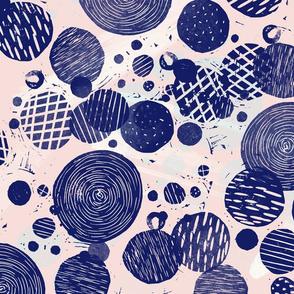 block print circles