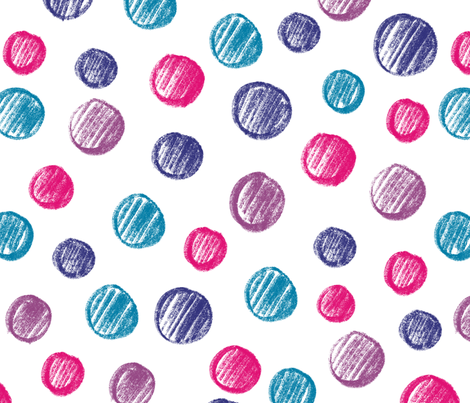 Sketchy Dots fabric by sarapoko on Spoonflower - custom fabric