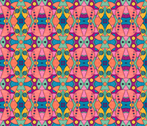 Psychedelic cirlces fabric by elisegowdesigns on Spoonflower - custom fabric