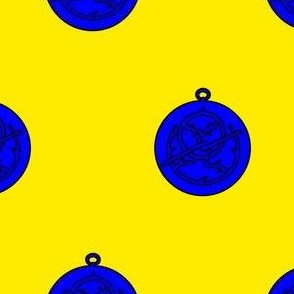 Or, an astrolabe azure