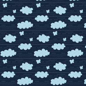 Clouds - navy background