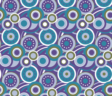 Fun with Circles fabric by fleurette7 on Spoonflower - custom fabric