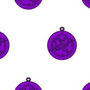 Argent, an astrolabe purpure