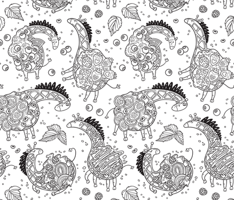 Giraffles fabric by penguinhouse on Spoonflower - custom fabric