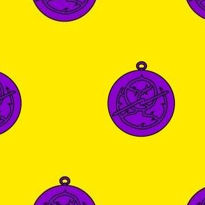 Or, an astrolabe purpure