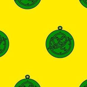 Or, an astrolabe vert