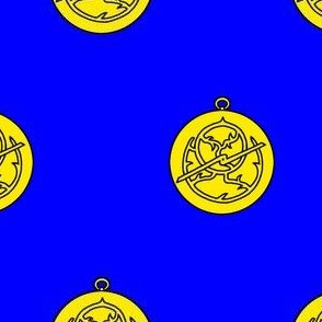 Azure, an astrolabe Or