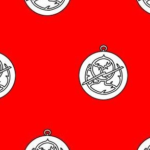 Gules, an astrolabe argent
