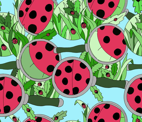 Ladybugs 'Round the Yard fabric by halestormed on Spoonflower - custom fabric