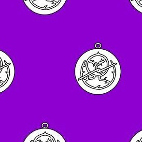 Purpure, an astrolabe argent