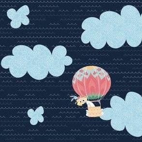 Nomi & Brave Float - navy background