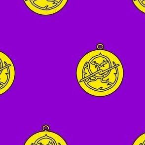 Purpure, an astrolabe Or