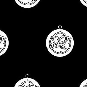 Sable, an astrolabe argent