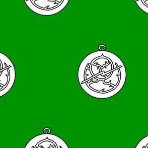 Vert, an astrolabe argent
