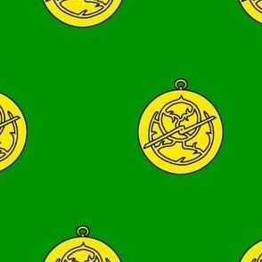 Vert, an astrolabe Or