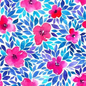 Watercolor flower meadow